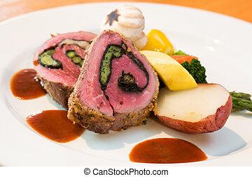 Stuffed Beef Steaks