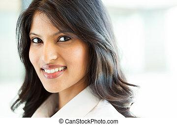 beautiful indian businesswoman closeup
