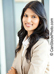 attractive young indian businesswoman