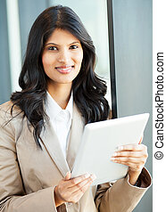 beautiful young indian businesswoman
