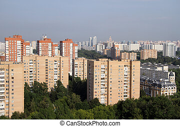 Residential district in the west part of Moscow, Russia