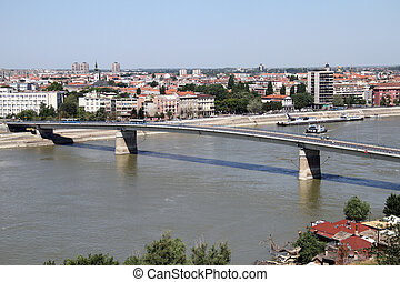 Bridge in Novi Sad - Bridge in the center of Novi Sad,...