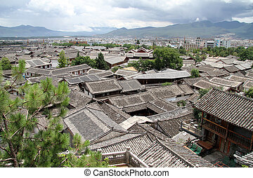 Old residential district in Lijiang, China