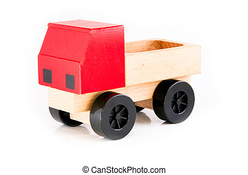 Red truck for children to