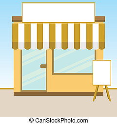 Store - Vector illustration of a small retail store