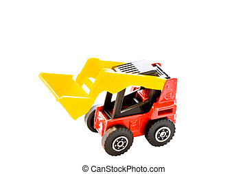Toy of a power shovel for children to play with