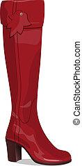 Stylish woman boot