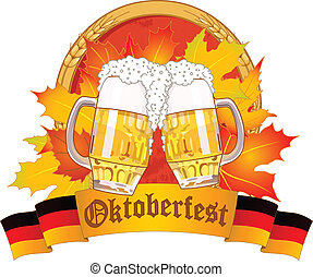 Oktoberfest design - Oktoberfest design with beer glasses