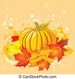 Autumn place card - Autumn place card with copy space