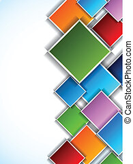 Background with squares - Background with colorful squares...