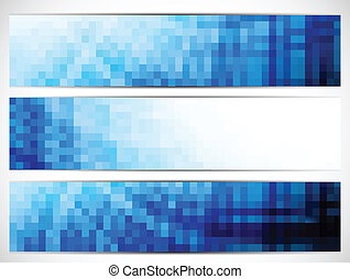 Set of banners - Set of abstract blue banners. Colorful...