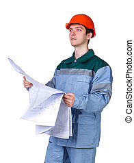 Picture of young construction worker