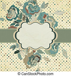 Vintage Flowers template design. EPS 8