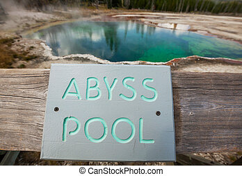Yellowstone Park - West Thumb Geyser Basin in Yellowstone...