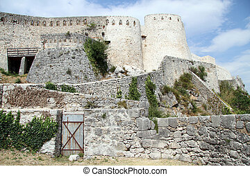 Old fortress - Walls of old fortress in Knin, Croatia