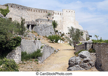 Old fortress on the rock in Knin, Croatia
