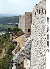 Wall of fortress - Wall of old fortress in Knin, Croatia