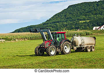 tractor with dung