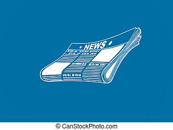 Conceptual ART of a newspaper - Conceptual ART of a business...