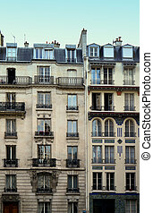 typical paris architecture - typical apartment building in...