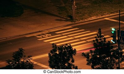 Crosswalk at Night  animation