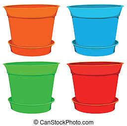 collection of flowerpots