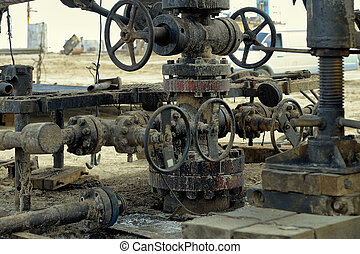 Oil well - The mouth of an old oil well