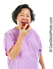 Healthy eating - Healthy lifestyle concept Asian senior...