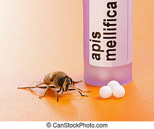 Apis Mellifica homeopathic medication and bee
