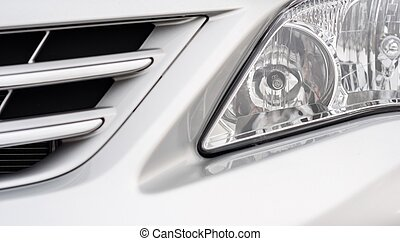 Front light of a clean car
