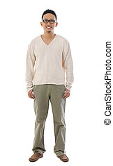 Front view full body Asian man