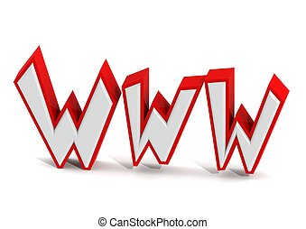 World wide web - Rendered artwork with white background