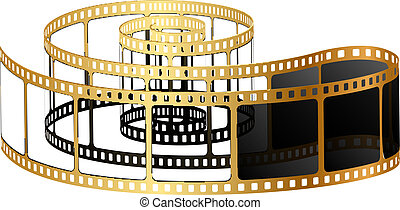 Vector illustration of golden film