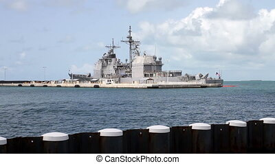 Navy Destroyer Shot One, Parked off Key West Florida