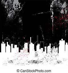 city and grunge background