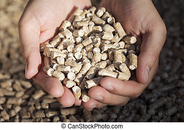 Biofuel - Alternative fuel: Pellets made from industrial...
