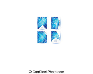 Vector Straight lines abstract background. Blue