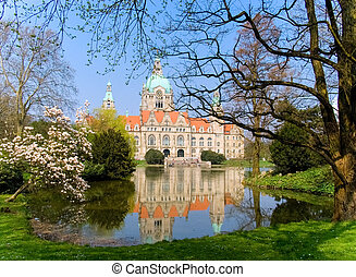 Neus Rathaus Hannover, The New Town City Hall Hanover