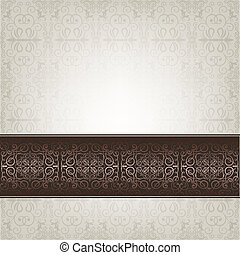 Grey abstract celebration card - Old turkish motifs and...