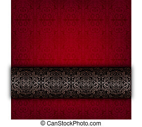 Red abstract celebration card
