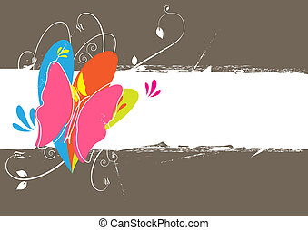 butterfly background layout