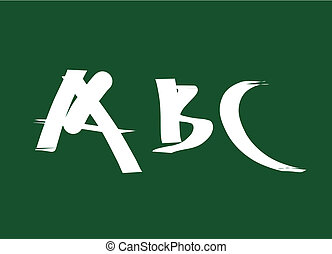 School board with abc letters - back to school vector...
