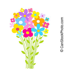 Flowers bouquet Vector illustration