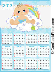 Cute monthly baby calendar for 2013 - Cute monthly baby...