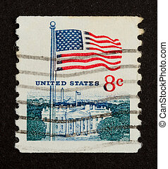 USA - CIRCA 1975: Stamp printed in the USA shows the Stars...