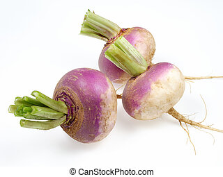 turnip - fresh vegetables on white background