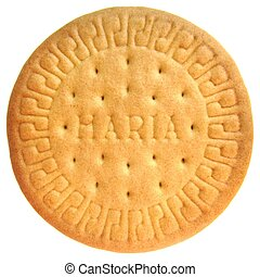 Marie biscuit - marie biscuit isolated white background