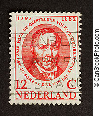 HOLLAND - CIRCA 1950: Stamp printed in the Netherlands shows...