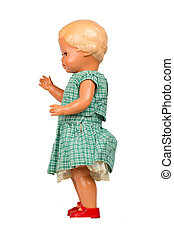 Very old baby doll 1940s, made with authentic clothing,...