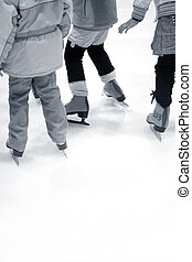 Learning Ice-skating - Children are Learning Ice-skating at...